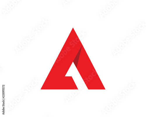 A Letter Logo Template Wall mural
