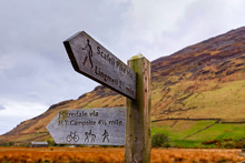 Directional Signpost To Scafell Pike