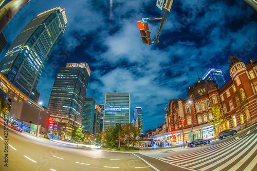 Poster Tokyo KITTEから見える東京駅とビジネス街