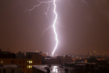Lightning Striking In New York City