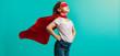 Leinwandbild Motiv Girl in superhero costume