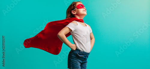 Fotografie, Obraz Girl in superhero costume