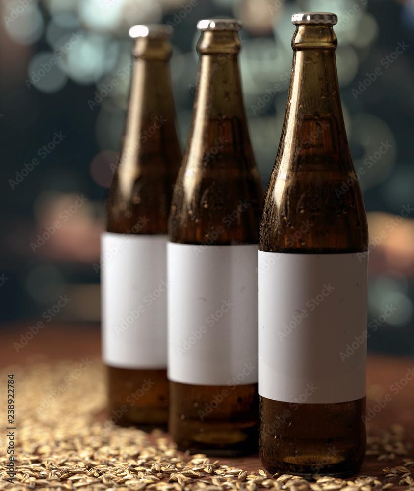 Fototapeta butelki trzy