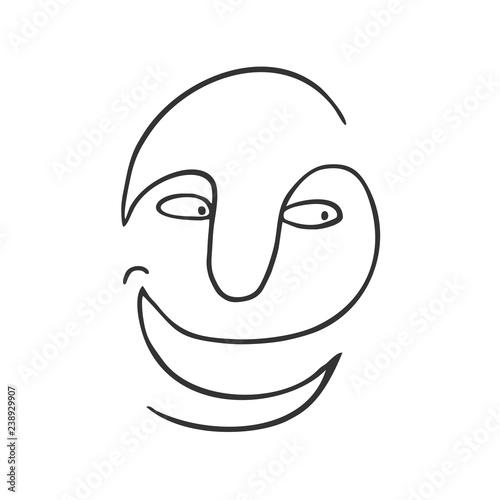 Fotografija  Funny lines art face draw