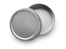 Top View Of Empty Metal Round ...
