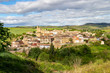 Beautiful May view of the town of Torres del Rio in Navarre, Spain on the Way of St. James, Camino de Santiago