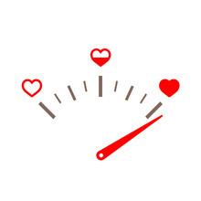 Love Gauge. Valentines Day Car...