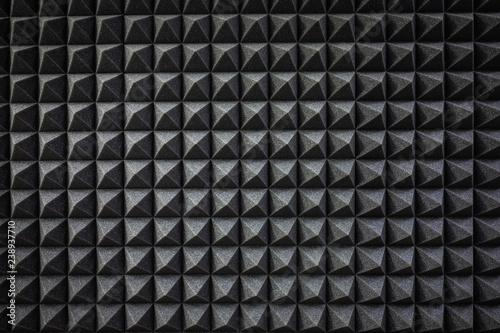 Fototapeta Foam soundproofing coating close-up. Recording studio details