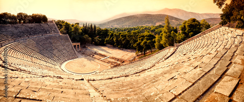 Photo Epidavros amphitheater in Greece