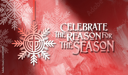 Fotomural  Christmas Reason For the Season Background graphic