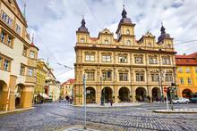 Prague, Czech Republic Area Malostranska In Old Town. Roads