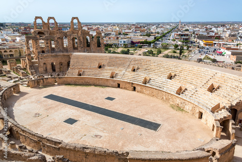 Foto El Jem Amphitheater from Above