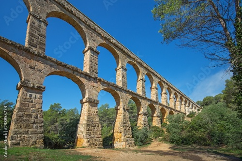 Roman aqueduct 'El ponte del Diablo' (The Bridge of the Devil)near Tarragona, Ca Wallpaper Mural