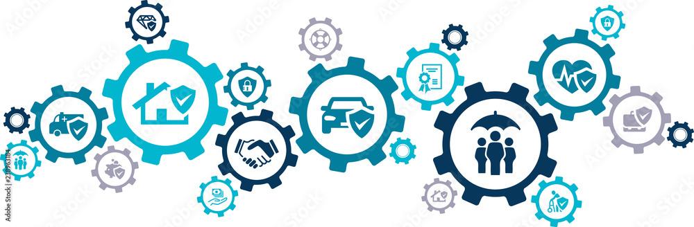 Fototapety, obrazy: insurance coverage concept – vector illustration