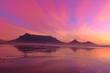 canvas print picture - Sun driver in purple