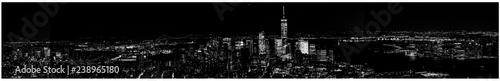 Deurstickers New York New York skyline