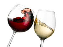 Red And White Wine Glasses Pla...