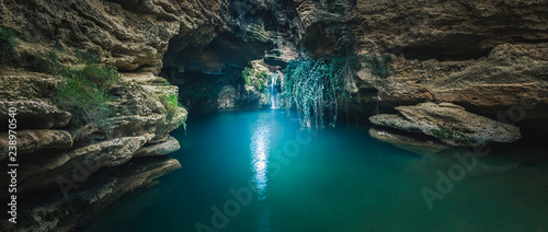 Beautiful panoramic photograph in the Salto del Usero in Bullas, Murcia