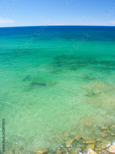 Turquoise Water Background Michigan