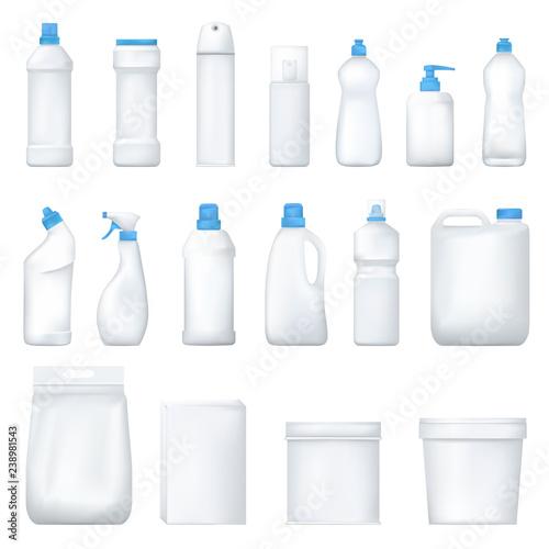 Fotomural Mock up plastic bottle and packge