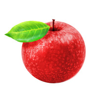 Photo Of Macro Isolated Red Apple With Leaf
