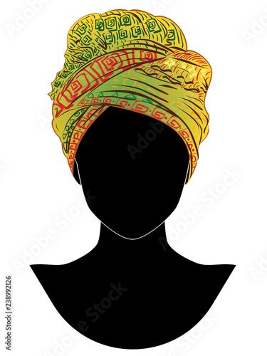 Fotomural African style turban