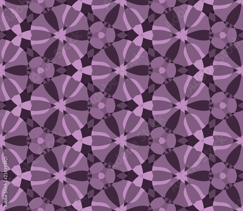 Seamless Hexagonal Pattern From Geometrical Abstract