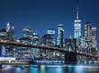 ニューヨーク ブルックリン・ブリッジとマンハッタンの摩天楼