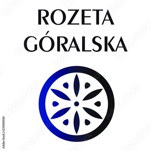 Fototapeta Rozeta Góralska Ludowa Regionalna Ozdobnik Podhalański Polski Folklor Polish Folk