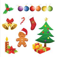Christmas elements vector.eps