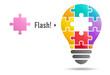 Puzzle light bulb (flash)