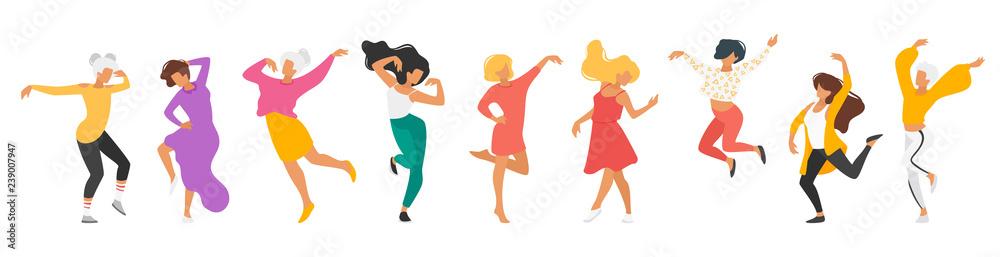 Fototapeta Dancing people silhouette