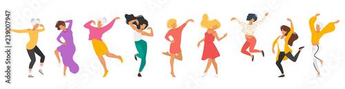 Valokuva  Dancing people silhouette