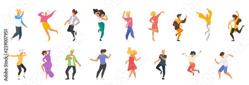 Fényképezés  Dancing people silhouette
