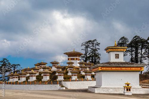 Fotografía  Dochula pass on the road from Thimpu to Punakha, Bhutan