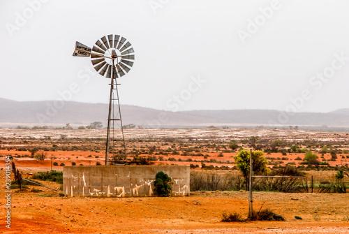 Broken Hill Outback Windmill Fototapeta