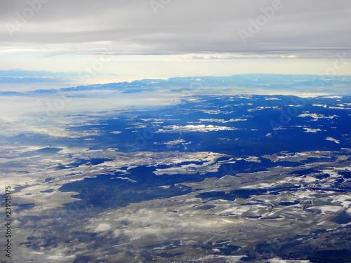 Papiers peints Arctique Luftbild - Schweiz im Winter