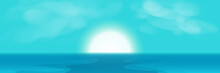 Sunrise, Sea And Sky Abstract ...