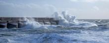 Rough Seas Crashing Against Br...