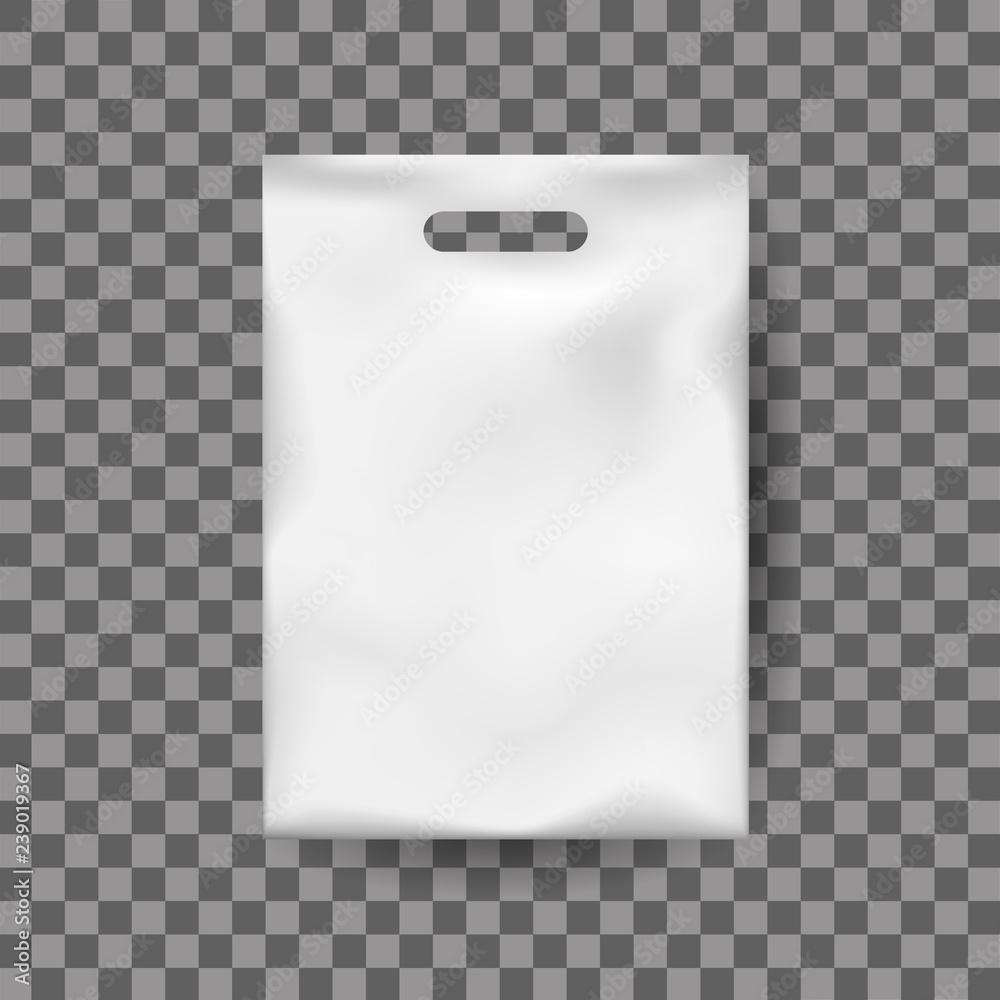 Photo & Art Print Realistic mock up, white plastic bag