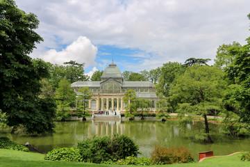 Cristal Palace in Retiro Park in Madrid Spain