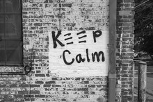Graffiti Sign On Wall Brick Keep Calm