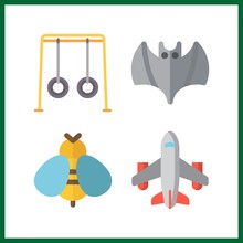 4 Fly Icon. Vector Illustratio...