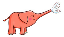 Funny And Cute Pink Elephant S...