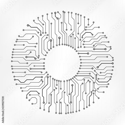 Fotomural  Circuit Board Technology Information Pattern Concept Vector Background