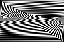 Abstract Black And White Strip...