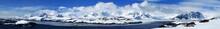 Great Panorama View Over Pennola Strait Near Galindez Island, Vernadsky Base In Antarctic