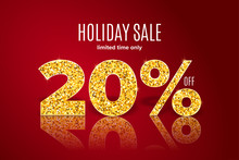 Golden Holiday Sale 20 Percent...