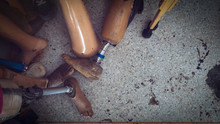 Old And Used Leg Prosthesis In...