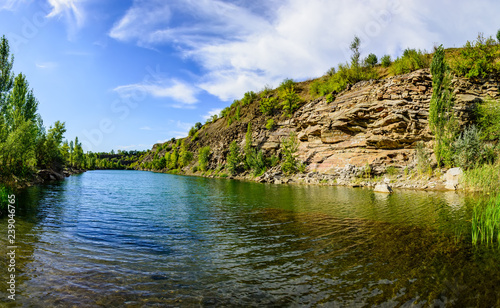 abandoned crushed stone quarry near Makeyevka in Donbass